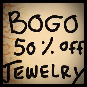 BOGO 50% off all Jewelry